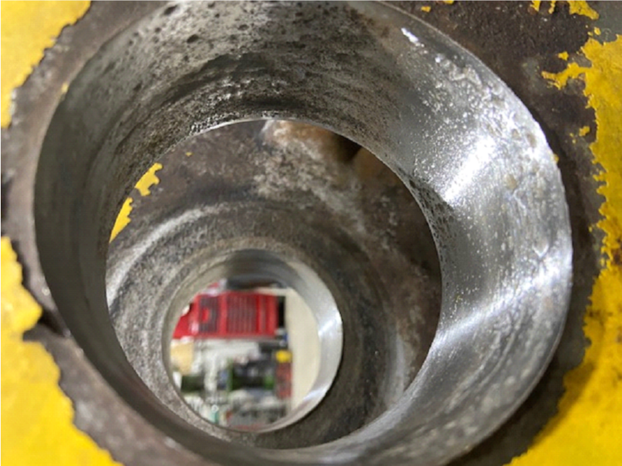 Worn and pitted bore